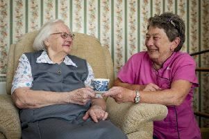 The home care team helps people live independently for longer
