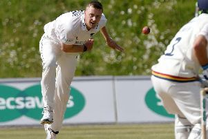 Olllie Robinson in action for Sussex against Durham at Arundel / Picture by Neil Marshall