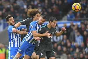 David Luiz in action against Brighton last season