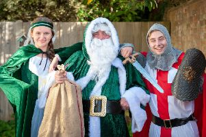 Princess Isobelle the Gracious, a traditional green Father Christmas and the medieval knight Sir Joe the Dragonslayer will be at this years Wickmas event. Pictures by Scott Ramsey