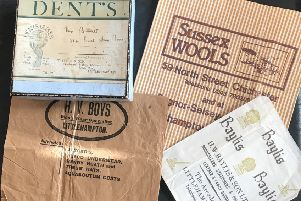 Some elderly paper bags and lovely box from long ago Littlehampton SUS-180312-170429003