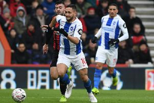 Brighton striker Florin Andone. Picture by PW Sporting Photography