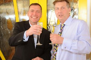 Richard Bradley (left) and Phil Duckett are selling the leasehold of Worthing Pier's Southern Pavilion