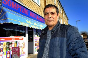 Boran Gonul, owner of the Sompting Mini Market