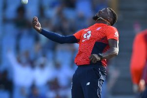 Chris Jordan helps England keep the West Indies in check / Picture by Getty Images