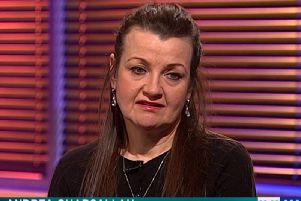 Andrea Gharsallah on the Crimewatch Roadshow. Picture: BBC