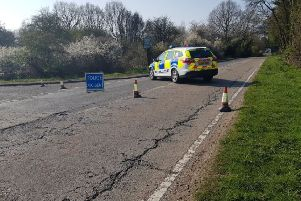 Police have closed the A29. Photo by Horsham Police