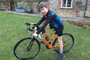 Callum Smith, 10, will be cycling from his home in Butlers Cross, Buckinghamshire, to his grandmother's home in Angmering to raise money for charity. He was inspired by his grandmother's own cancer diagnosis.