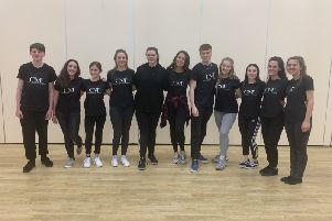 Charlotte Tyler with members of her CMT Performing Arts Academy SUS-190204-144315001