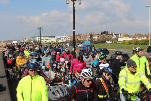 More than 200 people signed up, the highest number yet for Pedal Along the Prom