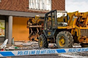 A forklift was used to ram into the Coop store in Rudgwick in September. Picture: Eddie Howland
