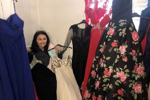 From bridesmaids dresses to evening gowns, Megan is grateful for every single donation
