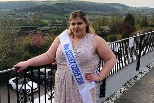 Alisha Cesa represents Sussex in the finals of Miss British Beauty Curve