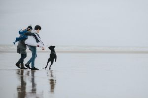 Julie and Harrison Viinikka andtheir Kerry Blue Terrier Nessie, from Brighton Road in Worthing