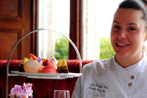 Leyre Pedrazuela Otero, head pastry chef at South Lodge Hotel, Lower Beeding SUS-190529-111726001