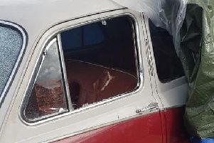 Joe Foxwell from Worthings classic car was damaged by vandals