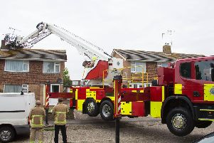 The fire service was called to Muirfield Road in Worthing