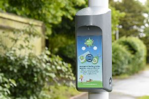 One of the Beat Boxes used in the West Sussex Beat the Streets walking and cycling initiative