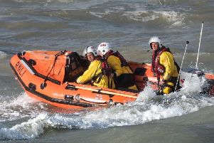 RNLI lifeboat during a rescue mission (stock image).