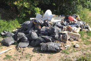 Fly-tipping in Ford. Photo by Paul Wyatt