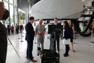 Prince Charles at L3Harris Technologies in Crawley
