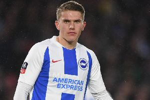 Brighton & Hove Albion's Viktor Gyokeres. Picture courtesy of Getty Images