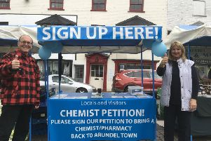 Campaigning for an in-town pharmacy for Arundel
