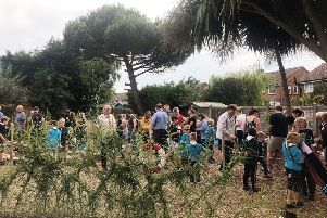 The official opening of 1st Ferring Sea Scout Group's new eco garden