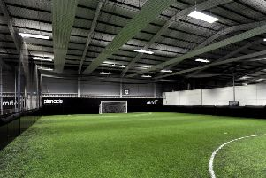 One of the indoor pitches at the Arun Sports Arena in Ford