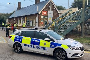 Goring Station has been sealed off with police tape