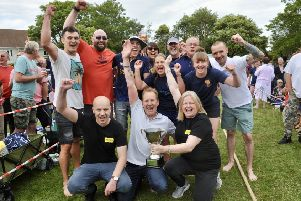 The East Preston Festival 2019. A closely fought tug of war was won by the team from the Tudor Tavern. SUS-191206-105203001
