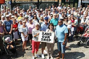Residents united last year to save the village shop