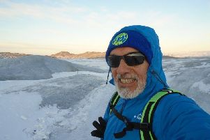 Guido Tapia, 67, has completed three and a half marathons in four weeks. SUS-190511-112333001