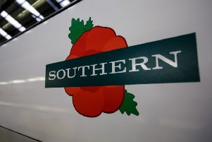 The poppy-themed Southern train