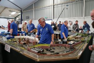 All layouts are made by members at home, to the same standards, and for shows, they are fitted together to make a modular layout