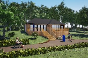 Artist's impression of what the new visitor centre might look like