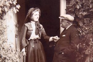 Hubert Parry at Knightscroft House with Lady Maud
