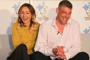 Selsey couple Steve, a 42-year-old builder, and Lenka, a 41-year-old shopworker, have won �105,100,701.90