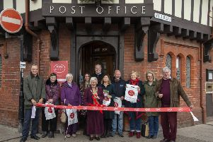 Arundel Post Office, one of the most beautiful Post Offices in the UK, has been officially re-opened today (7/12) after refurbishment by the Mayor of Arundel, Cllr Wendy Eve.