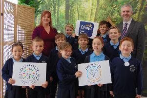 Staff and pupils from East Preston Junior and Infant Schools celebrated successful Ofsted inspections SUS-191112-091653001