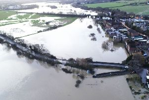 Flooding in Pulborough, West Sussex