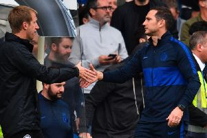Brighton and Hove Albion head coach Graham Potter and Chelsea manager Frank Lampard will meet once again at the Amex Stadium