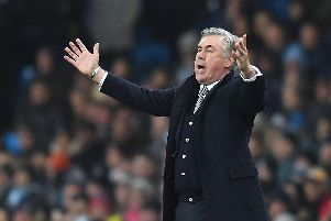 Brighton and Hove Albion will take on Carlo Ancelotti's Everton at Goodison Park
