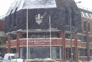 Arun District Council's Civic Centre, in Maltravers Road