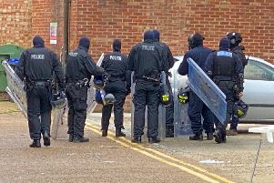 Susses Police on the scene in Broadwater Street West