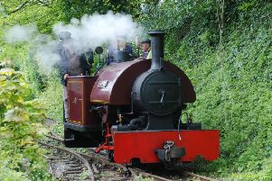 101-year-old narrow-gauge steam engine Peter at Amberley Museum