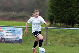 Sophie Humphrey struck twice for Worthing Women at Hassocks. Picture: OneRebelsView