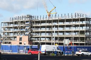 HMRC will be moving into Teville Gate House in Worthing in March, 2021. Construction is ongoing at the site. Picture: Eddie Mitchell