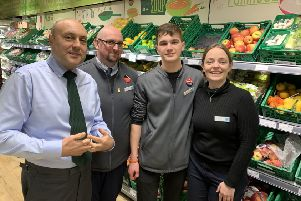 Arundel & South Downs MP Andrew Griffith visits the Co-op in Steyning to talk about retail crime
