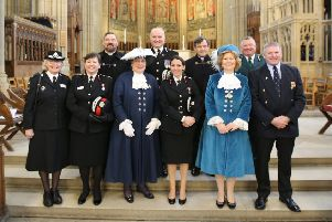The service at Lancing College Chapel was attended by more than 400 emergency services staff